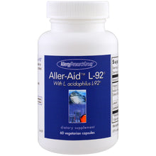 Load image into Gallery viewer, Aller-Aid L-92 With L. acidophilus L-92 - 60 Vegetarian Capsules