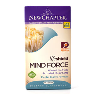 LifeShield Mind Force Whole Life-Cycle Activated Mushrooms Mental Clarity Formula - 60 Capsules