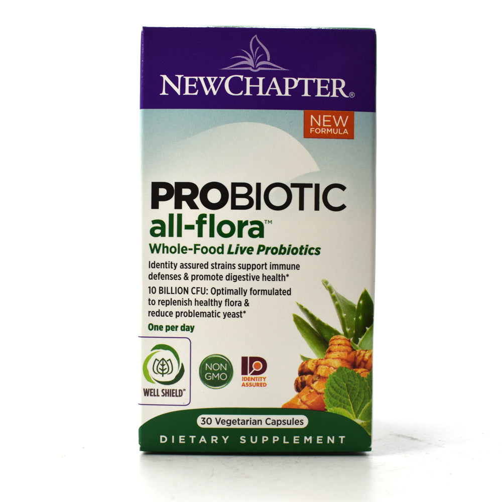 Probiotic All-Flora Whole-Food Live Probiotics - 30 Vegetarian Capsules