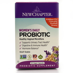 Women's Daily Probiotic 10 Billion CFU Clinically Studied Strains - Shelf Stable - 30 Vegan Capsules