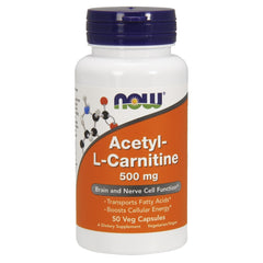 Acetyl L-Carnitine 500mg - 50 Vegetarian Capsules