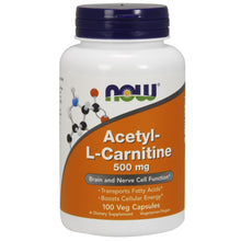 Load image into Gallery viewer, Acetyl L-Carnitine 500mg - 100 Capsules