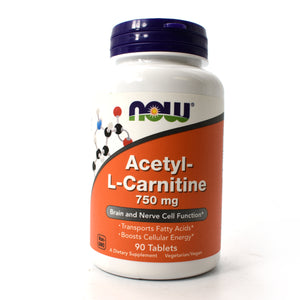 Acetyl-L-Carnitine 750mg - 90 Vegetarian Tablets