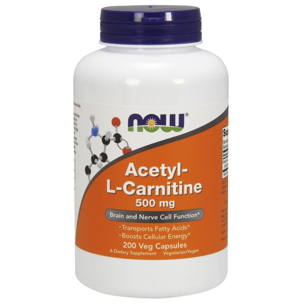 Acetyl-L Carnitine 500mg - 200 Vegetarian Capsules