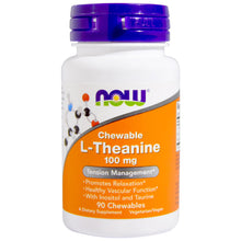 Load image into Gallery viewer, L-Theanine 100 mg - 90 Chewables