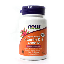 Load image into Gallery viewer, Vitamin D-3 Highest Potency 5000 IU - 240 Softgels