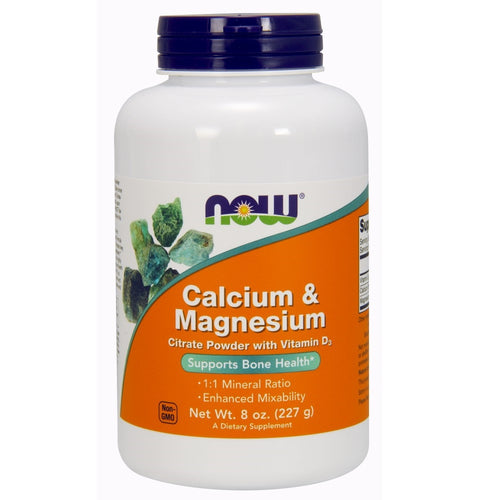 Calcium and Magnesium Citrate Powder - 8 oz