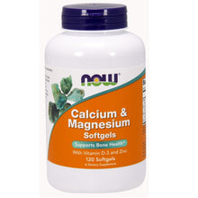 Load image into Gallery viewer, Calcium-Magnesium with Vitamin D and Zinc - 120 Softgels
