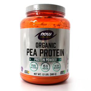 NOW Sports Organic Pea Protein Powder - Pure Unflavored - 1.5 lb
