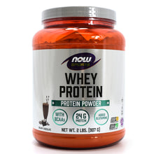 Load image into Gallery viewer, NOW Sports Whey Protein Powder - Creamy Chocolate - 2 lbs