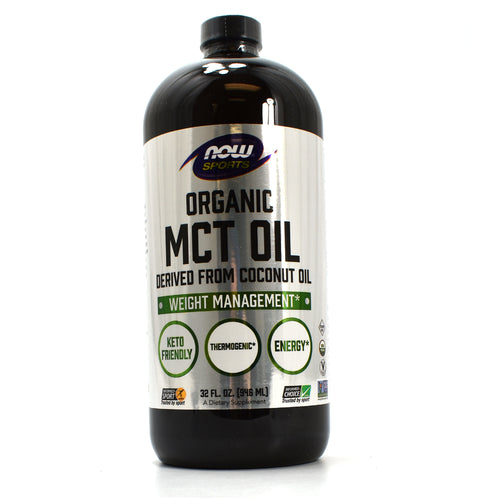 NOW Sports Organic MCT Oil Derived from Coconut Oil - 32 Fl Oz