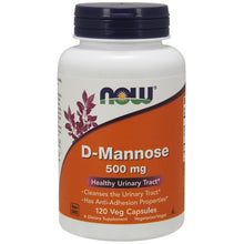 Load image into Gallery viewer, D-Mannose 500mg - 120 Capsules