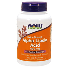 Load image into Gallery viewer, Alpha Lipoic Acid 600mg - 120 Vegetarian Capsules