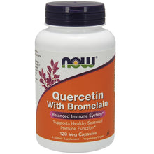 Load image into Gallery viewer, Quercetin With Bromelain - 120 Vegetarian Capsules