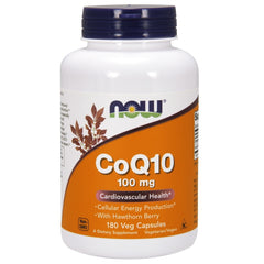 CoQ10 Cardiovascular Health with Hawthorn Berry 100mg - 180 Vegetarian Capsules