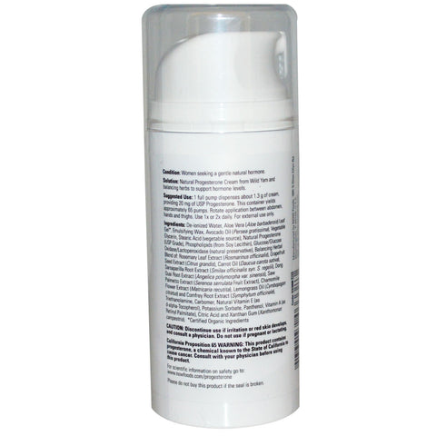 Progesterone Cream - 3 Oz