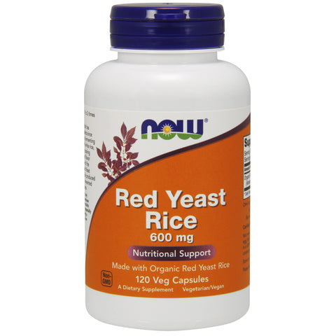 Red Yeast Rice 600MG - Organic 120 - Vegetarian Capsules
