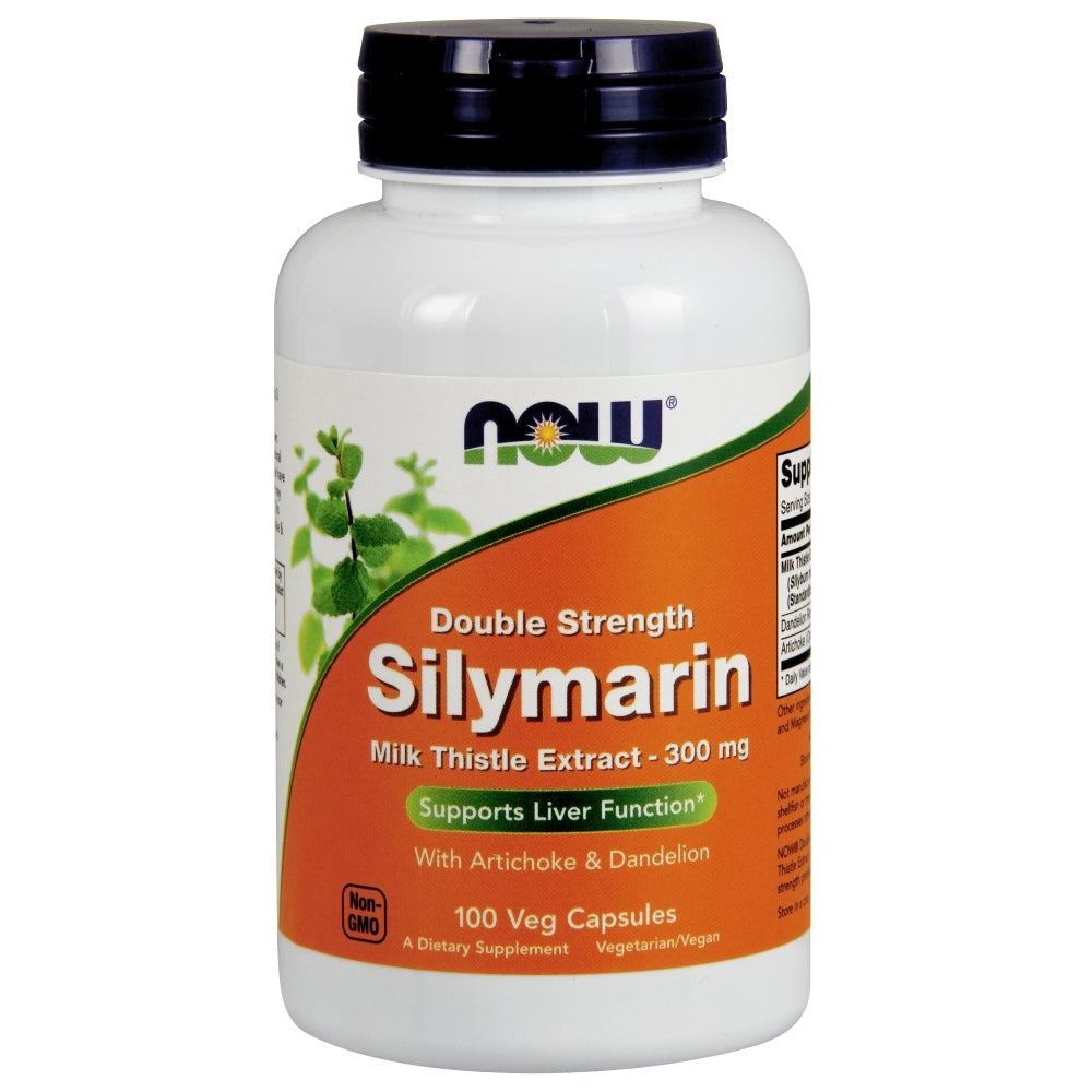 Silymarin Milk Thistle Extract with Artichoke and Dandelion - 2X - 300mg - 100 Vegetarian Capsules