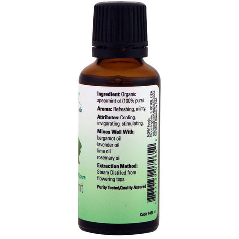 Spearmint Oil Certified Organic and 100% Pure - 1 fl oz