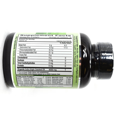 Coconut Oil 100% Pure Extra Virgin - 120 Softgels