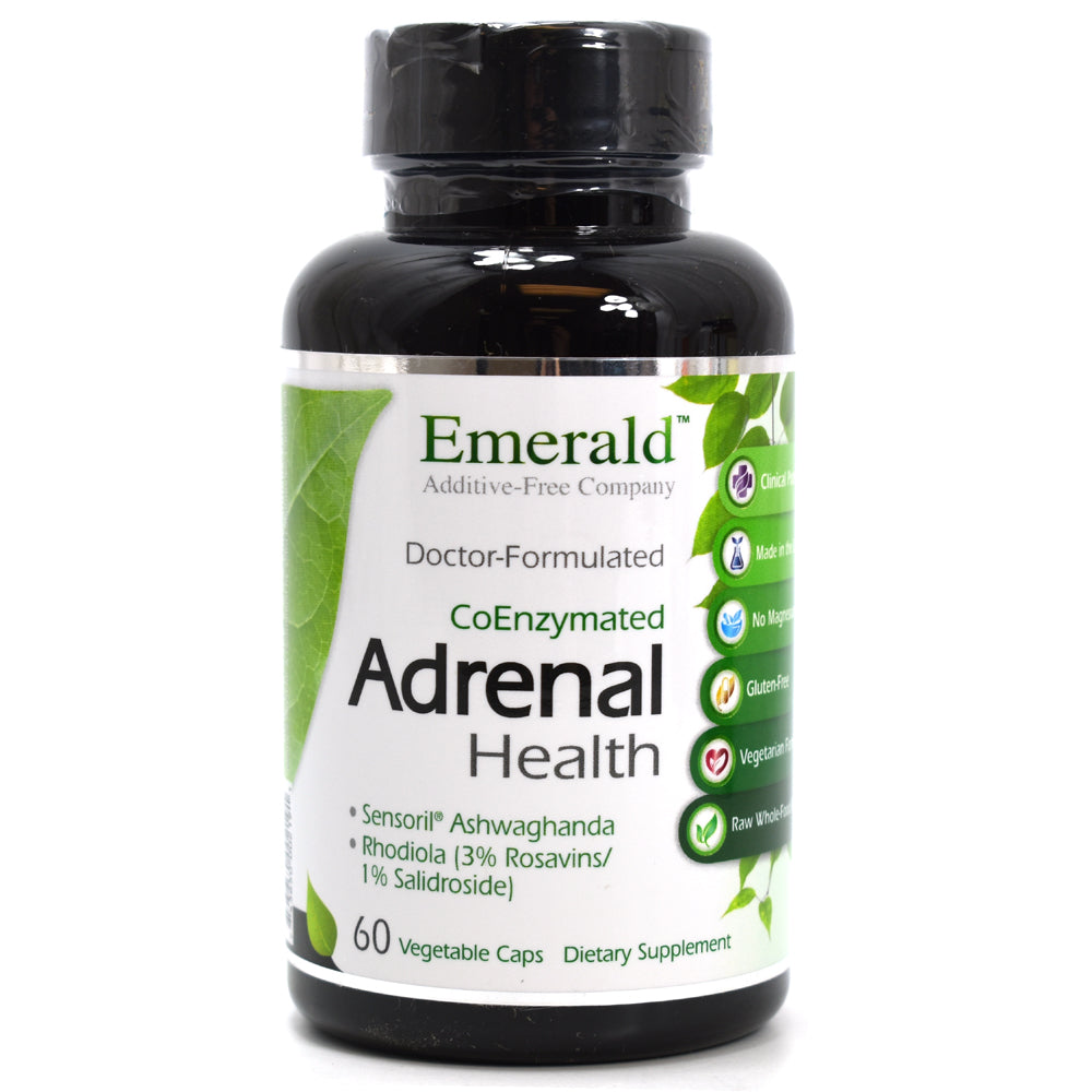 Adrenal Health Raw Whole-Food Based Formula - 60 Vegetarian Capsules
