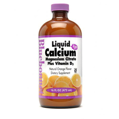 Liquid Calcium Magnesium Citrate Plus Vitamin D3 Natural Orange Flavor - 16 oz