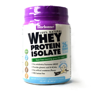 100% Natural Whey Protein Isolate Powder Natural French Vanilla Flavor - 1 lb