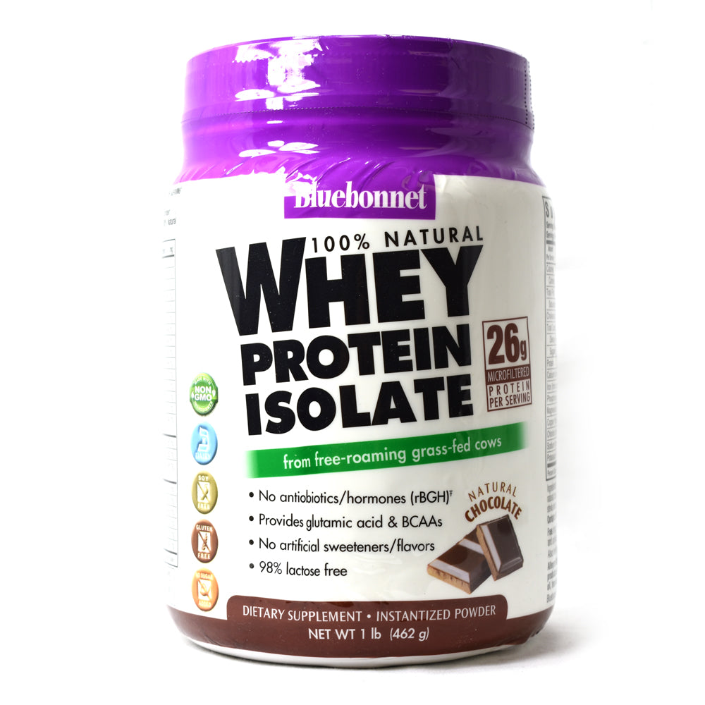 100% Natural Whey Protein Isolate Powder Natural Chocolate Flavor - 1 lb