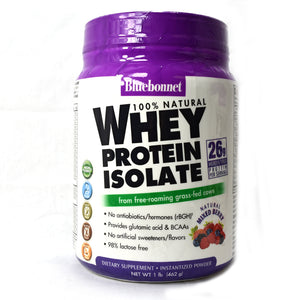 100% Natural Whey Protein Isolate Powder Natural Mixed Berry Flavor - 1 lb