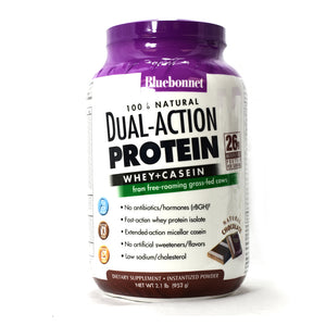 Dual-Action Protein Whey + Casein Natural Chocolate Flavor - 2.1 lb