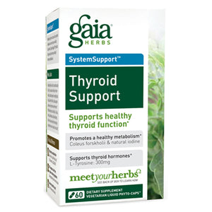 Thyroid Support Liquid Phyto Capsules - 60 Vegetarian Capsules