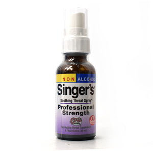 Singer's Saving Grace Soothing Throat Spray Professional Strength Non Alcohol - 1 oz