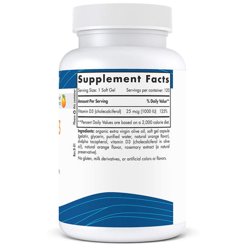 Vitamin D3 Orange 250 mg - 120 Softgels