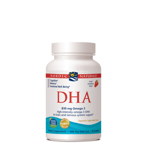 DHA from Purified Fish Oil Strawberry 500mg - 90 Softgels