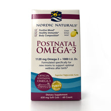 Load image into Gallery viewer, Postnatal Omega-3 1120 mg Omega-3 + 1000 I.U D3 - 60 Softgels