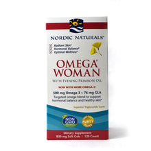 Load image into Gallery viewer, Omega Woman Evening Primrose Oil Blend Lemon 500 mg - 120 Softgels