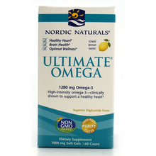 Load image into Gallery viewer, Ultimate Omega Purified Fish Oil Lemon 1000mg - 60 Softgels