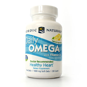 Daily Omega with Vitamin D3 Natural Fruit Flavor - 30 Softgels