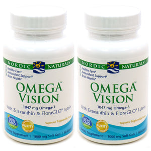 Omega Vision Plus Lutein and Zeaxanthin 1000 mg - 60 Softgels (Pack of 2)