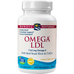 Omega LDL with Red Yeast Rice and CoQ10 1000 mg - 60 Softgels