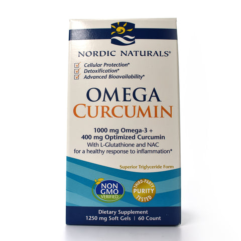 Omega Curcumin 1000 mg Omega-3 + 400 mg Optimized Curcumin - 60 Softgels