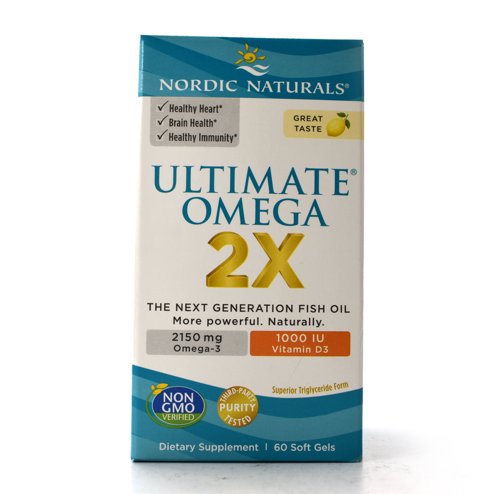 Ultimate Omega 2x + Vitamin D3 with 2150 mg Omega-3 plus 1000 I.U. Vitamin D3 - 60 Softgels