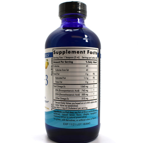 Omega-3 Liquid Purified Fish Oil Lemon - 8 oz