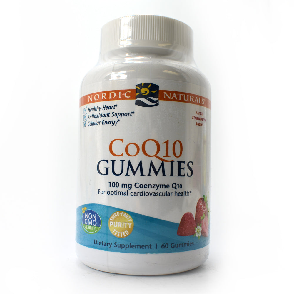 CoQ10 Gummies Strawberry - 100 mg Coenzyme Q10 - 60 Gummies