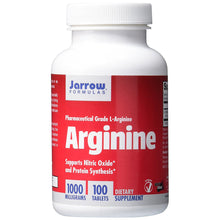 Load image into Gallery viewer, L-Arginine 1000mg - 100 Vegetarian Tablets