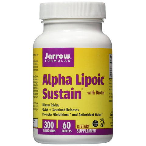 Alpha Lipoic Sustain with Biotin 300mg - 60 Vegetarian Tablets