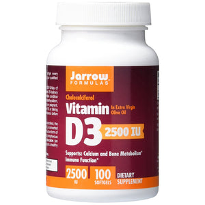 Vitamin D3 Cholecalciferol 2500IU - 100 Softgels