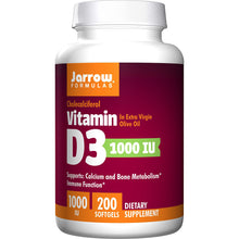 Load image into Gallery viewer, Vitamin D3 Cholecalciferol 1000IU - 200 Softgels