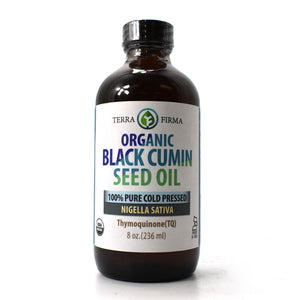 USDA Organic Black Cumin Seed Oil 100% Pure Cold Pressed Nigella Sativa - 8 oz