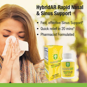 HybridAR Rapid Nasal and Sinus Support - 30 Veggie Capsules